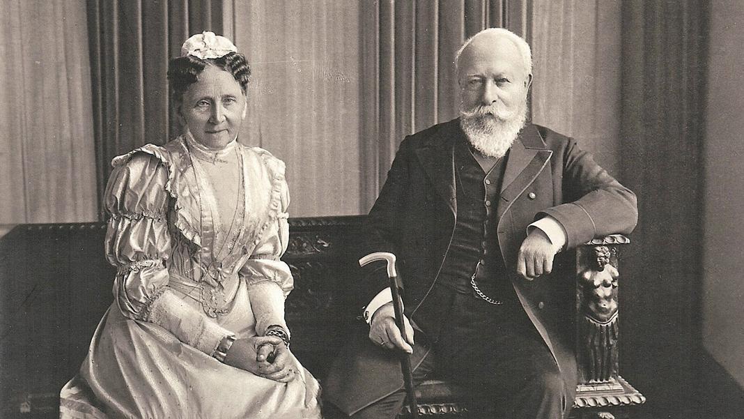 Friedrich I. und Luise in Baden-Baden, Fotografie von Jungmann & Schorn, 1906; Scan: Sandra Eberle
