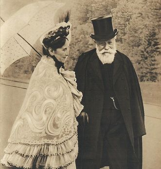 Photograph of Grand Duchess Luise and Grand Duke Friedrich circa 1905. Image: Sandra Eberle