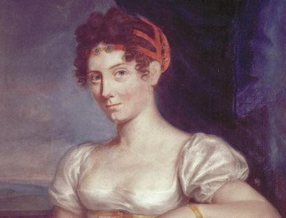 Porträt der Großherzogin Stéphanie aus Schloss Mannheim, um 1806; Foto: Staatliche Schlösser und Gärten Baden-Württemberg, Urheber unbekannt