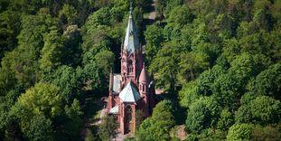 Großherzogliche Grabkapelle Karlsruhe, Luftaufnahme