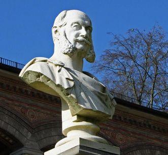 Bust of Emperor Wilhelm I in Baden-Baden. Image: Sandra Eberle
