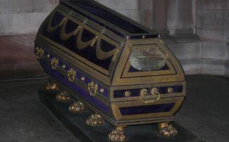 Coffin of Prince Ludwig Wilhelm August von Baden in the Sepulchral Chapel of the Grand Duchy in Karlsruhe. Image: Staatliche Schlösser und Gärten Baden-Württemberg, Helene Seifert