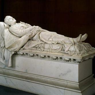 Ansicht des Grabmals Prinz Ludwig Wilhelm in der Großherzoglichen Grabkapelle Karlsruhe; Foto: Landesmedienzentrum Baden-Württemberg, Urheber unbekannt
