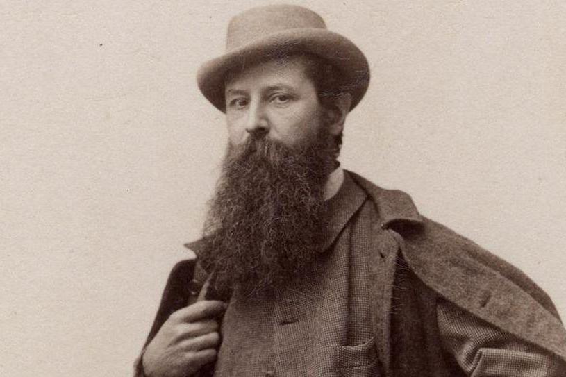 Porträt von Hermann Volz um 1900; Foto: Stadtarchiv Karlsruhe