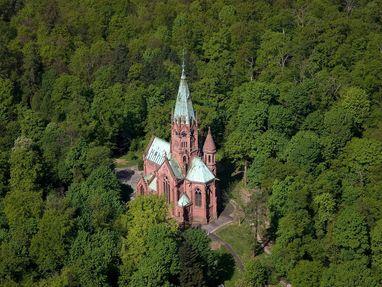 Großherzogliche Grabkapelle Karlsruhe von oben