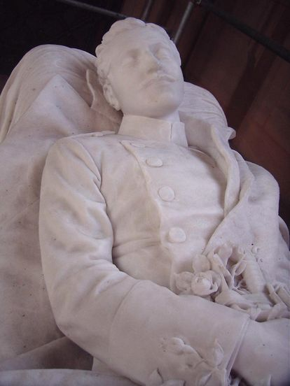 Grabmal des Prinzen Ludwig Wilhelm; Foto: Staatliche Schlösser und Gärten Baden-Württemberg, Helene Seifert
