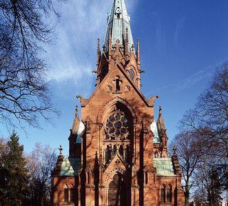 Ansicht der Großherzoglichen Grabkapelle Karlsruhe